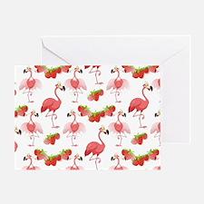 Strawberry Flamingos - Greeting Card