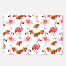 Strawberry Flamingos - Postcards (Package of 8)