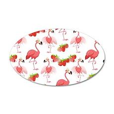 Strawberry Flamingos - Wall Decal