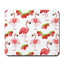 Strawberry Flamingos - Mousepad