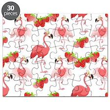 Strawberry Flamingos - Puzzle