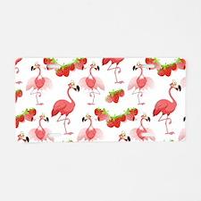 Strawberry Flamingos - Aluminum License Plate