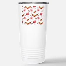 Strawberry Flamingos - Stainless Steel Travel Mug
