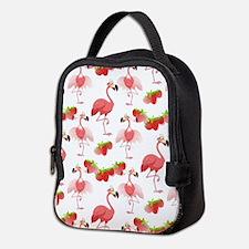 Strawberry Flamingos - Neoprene Lunch Bag