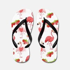 Strawberry Flamingos - Flip Flops