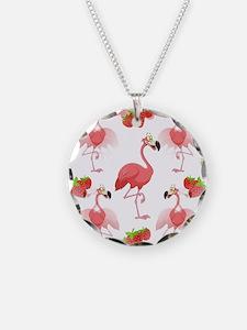 Strawberry Flamingos - Necklace