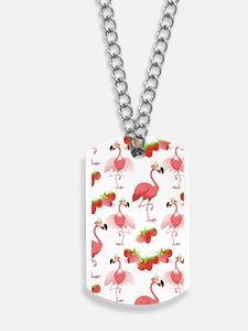 Strawberry Flamingos - Dog Tags