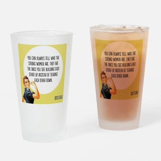 Strong Women Drinking Glass