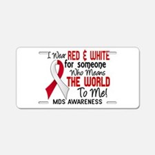MDS MeansWorldToMe2 Aluminum License Plate