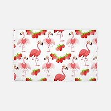 Strawberry Flamingos - Area Rug