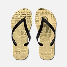 newspaper Flip Flops