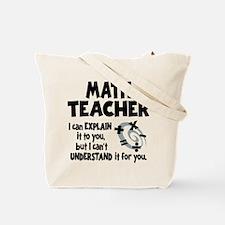 MATH TEACHER (both sides) Tote Bag