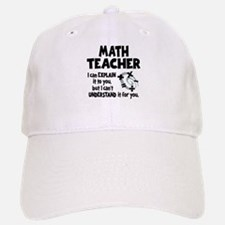 MATH TEACHER Baseball Baseball Cap