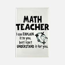 MATH TEACHER Rectangle Magnet