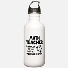 MATH TEACHER Water Bottle