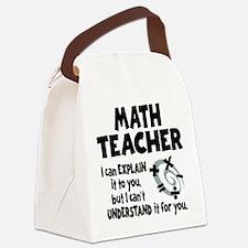 MATH TEACHER Canvas Lunch Bag