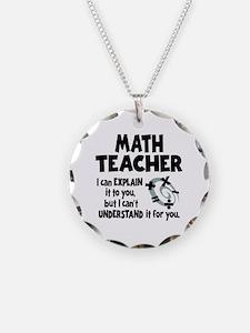 MATH TEACHER Necklace