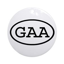 GAA Oval Ornament (Round)