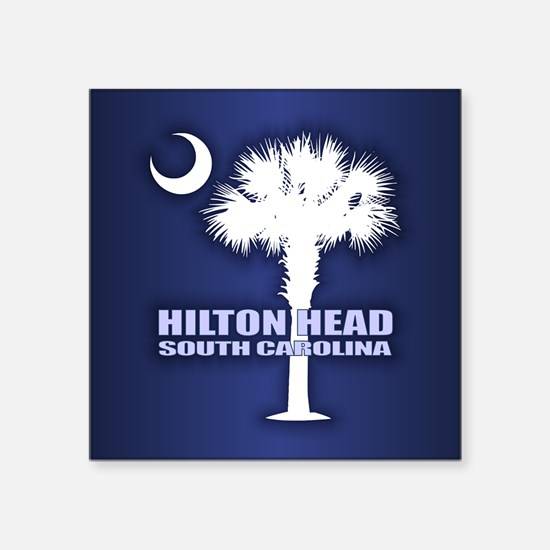 """Hilton Head Square Sticker 3"""" x 3"""""""