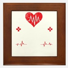 Feel Safe At Night, Sleep With A Nurse Framed Tile