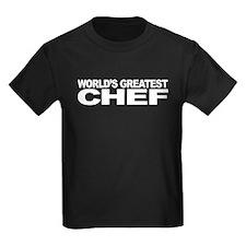 World's Greatest Chef Kids Dark T-Shirt