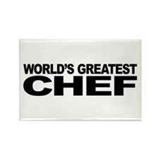 World's Greatest Chef Rectangle Magnet
