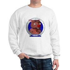 Winky's Blue Portrait Sweatshirt