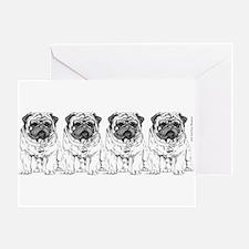 The Pugmeister Pug Greeting Card