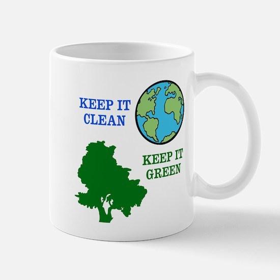 Clean / Green Mugs