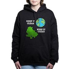 Clean / Green Women's Hooded Sweatshirt