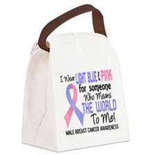 Male Breast Cancer MeansWorldToMe Canvas Lunch Bag