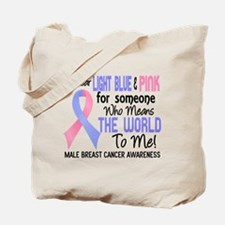 Male Breast Cancer MeansWorldToMe2 Tote Bag