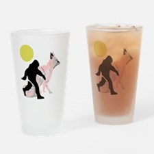 bigfoot and fox Drinking Glass