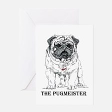 The Pugmeister Pug Greeting Card