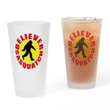bigfoot believer Drinking Glass