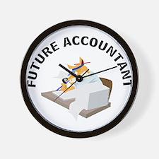 future accountant Wall Clock