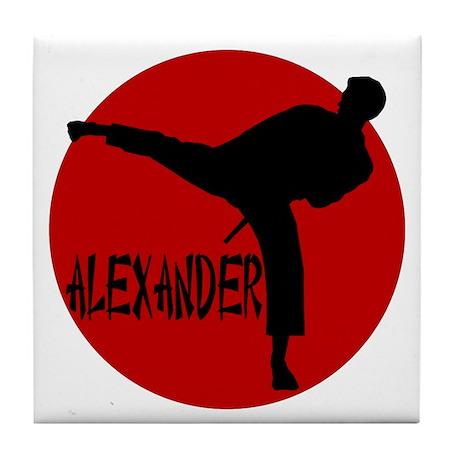Alexander Martial Arts Tile Coaster