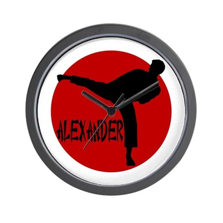 Alexander Martial Arts Wall Clock