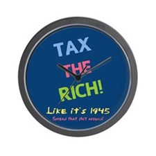 Tax the Rich Wall Clock