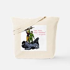 2, 3, Many Vietnams Scarlet Menace logo Tote Bag
