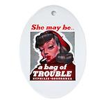 No Bad Evil Women Oval Ornament