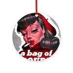 No Bad Evil Women Ornament (Round)