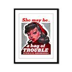 No Bad Evil Women Framed Panel Print