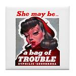No Bad Evil Women Tile Coaster