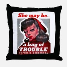 No Bad Evil Women Throw Pillow