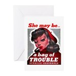 No Bad Evil Women Greeting Cards (Pk of 20)