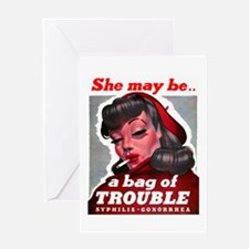No Bad Evil Women Greeting Card