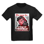 No Bad Evil Women (Front) Kids Dark T-Shirt