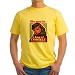 No Bad Evil Women (Front) Yellow T-Shirt