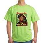 No Bad Evil Women Green T-Shirt